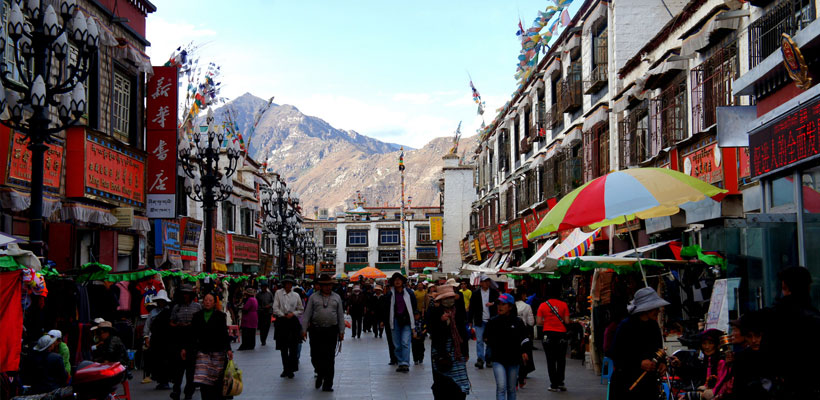 how to get to tibet from india